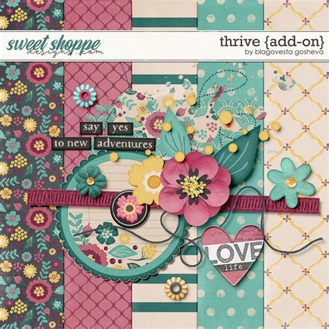 scrapbook addon tutorial quality digiscrap freebies thrive mini kit freebie from