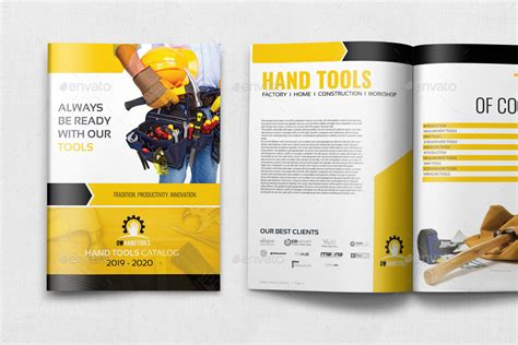 hand tools products catalog brochure template 24 pages