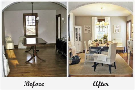 Living Dining Room Makeover Room Makeovers Each Featuring A Different Before And