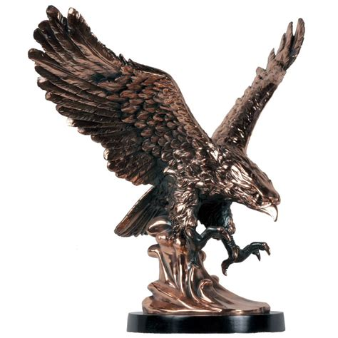 large eagle statue copper finish