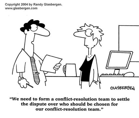 conflict resolution cartoon ha ha ha counselling
