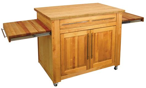 Stainless Steel Movable Kitchen Island Butcher Block Kitchen Island John Boos Islands