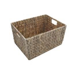 Storage Baskets Buy Water Hyacinth Rectangular Storage Baskets From The