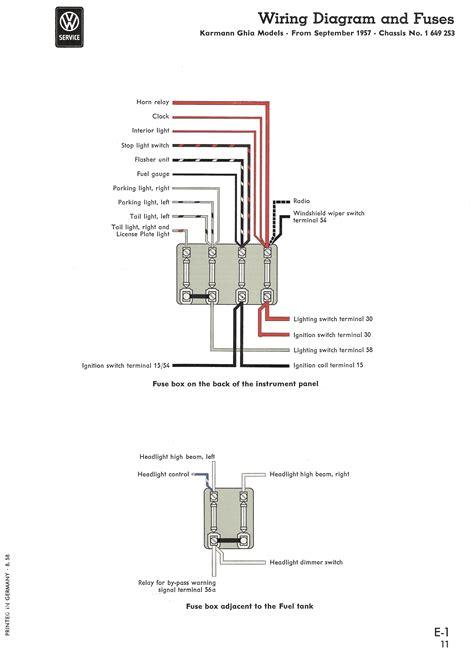 thesambacom karmann ghia wiring diagrams