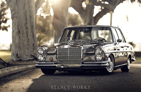 bagged mercedes stance works bagged mercedes w108