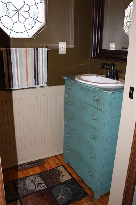 Mudroom renovation old dresser re purposed into a stunning vanity on the cheap 1 more than 2