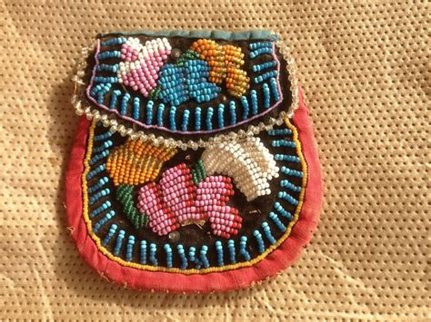 beadwork bag iroquois beaded bag antique beadwork pouch
