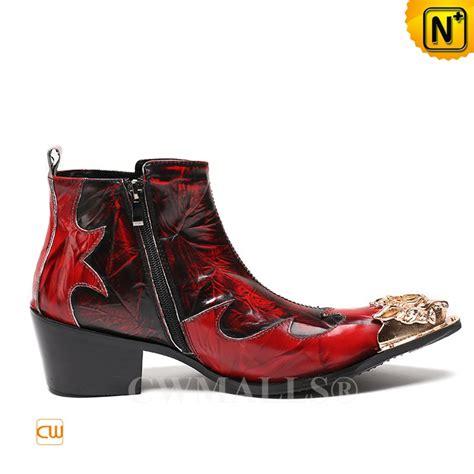 mens leather cuban heel boots cwmalls 174 mens leather zip cuban heel boots cw707216