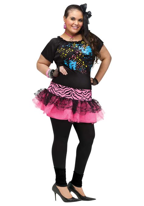 plus size 80s pop costume