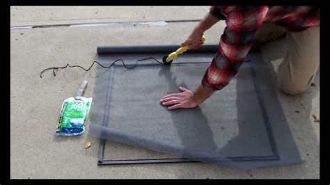 Fixing A Screen Door by Custom Window Screens How To Replace A Fiberglass Mesh