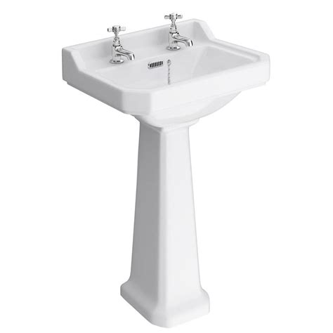 bathroom basin and pedestal carlton 560mm basin pedestal with 1 or 2 tapholes o kane