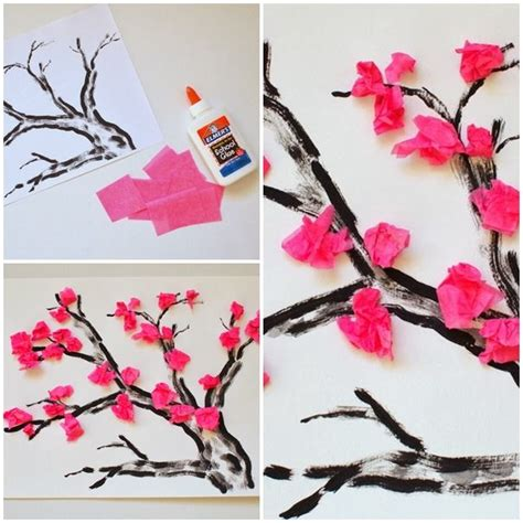 arts and crafts tissue paper flowers 25 best ideas about tissue paper trees on