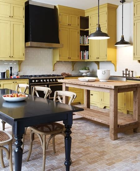 Mustard Kitchen Cabinets Mustard Kitchen Cupboards Interiors By Color