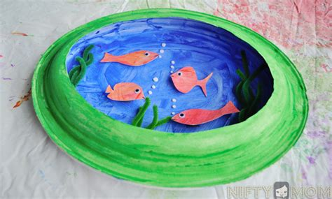 How To Make A 3d Fish Out Of Paper - preschool craft a 3d fish with paper plates