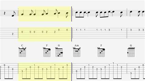 tutorial guitar hallelujah guitar tab chords hallelujah acoustic youtube