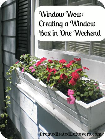 weekend diy how to build a window box in one weekend