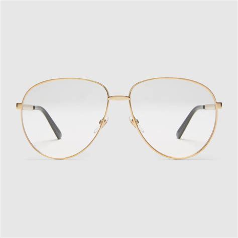 Aviator Metal Glasses aviator metal glasses with web gucci s glasses