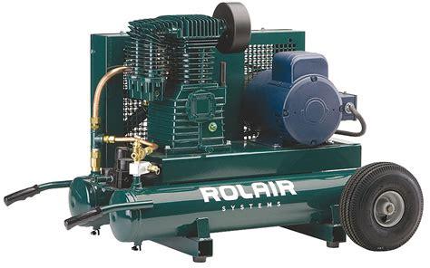 rolair 3 hp 230vac 9 gal portable electric air compressor 150 psi 35dz68 3230k24 0095