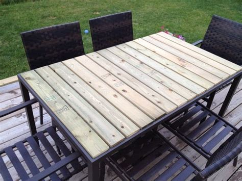outdoor table top materials diy patio table fence boards great solution for