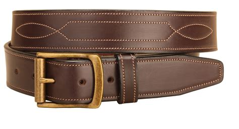 leather stitched pattern leather belt