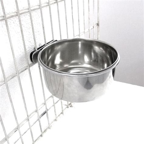 Pet Mangkok Wetnoz Stanles Small small bolt on stainless steel bowl pets at home