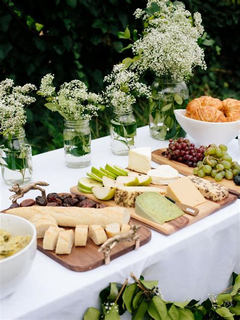 Baby Shower Buffet Table by How To Plan A Inspired All White Baby Shower Diy