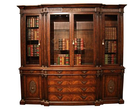 antique mahogany china cabinet and bookcase