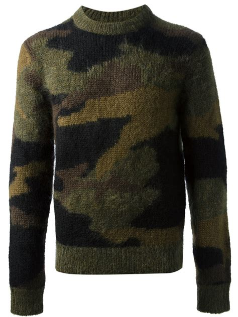 Sweater Camo Michael Kors Camo Sweater In Green For Lyst
