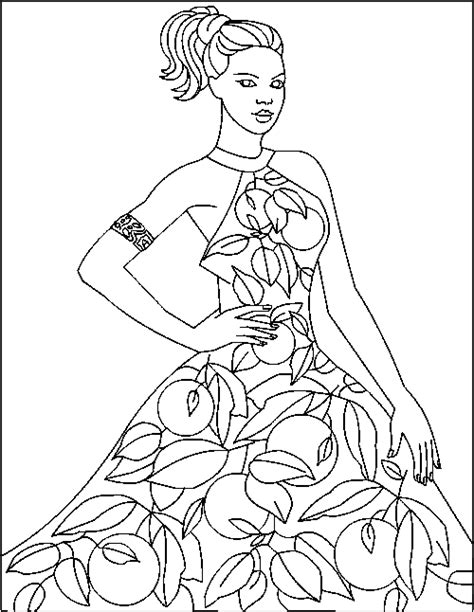 girl model coloring page fashion design coloring pages bestofcoloring com