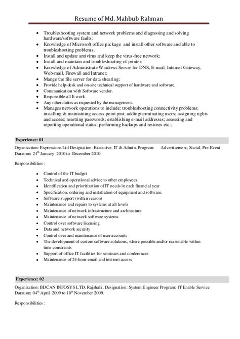 Software Knowledge On Resume by Software Knowledge On Resume Resume Ideas