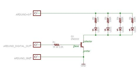 single transistor led driver microcontroller building a simple mcu driven array of leds electrical engineering stack exchange