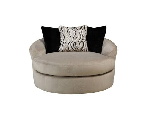 Swivel Round Cuddle Chair Fabric Chenille Leather Round Leather Swivel Cuddle Chair