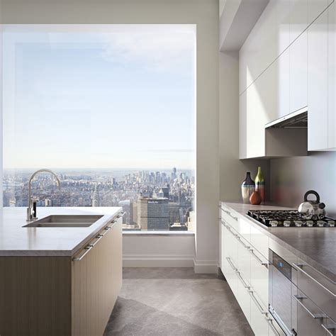kitchen view views from top of 432 park avenue business insider