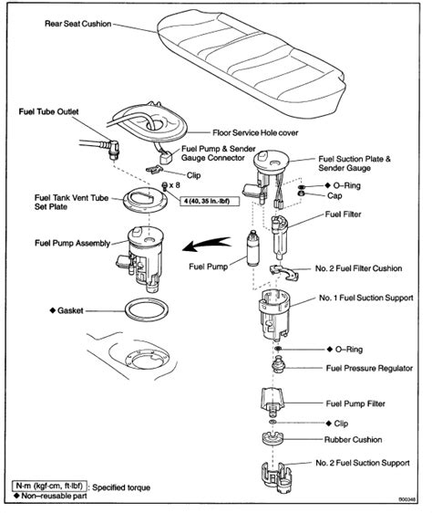 toyota corolla 2004 fuel filter location get free image