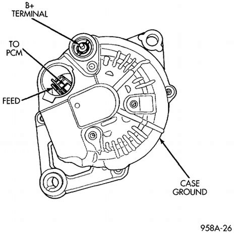 pt cruiser alternator wiring diagram get free image
