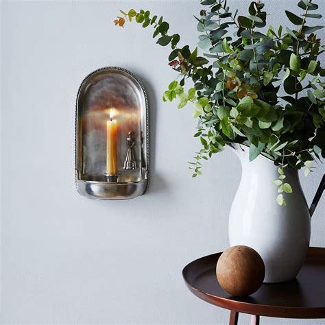 Sconce Food pewter wall sconce with candle snuffer on food52