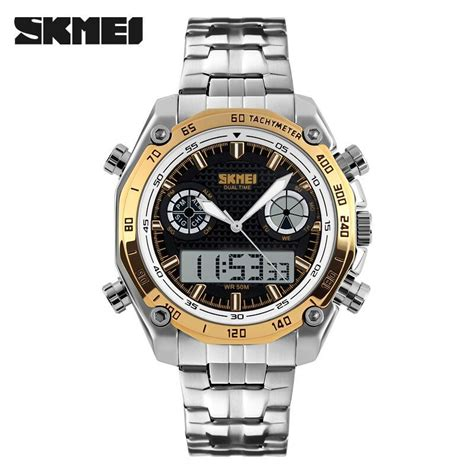 Skmei Jam Tangan Digital Pria Dg1140 Golden skmei jam tangan analog digital pria ad1204 golden