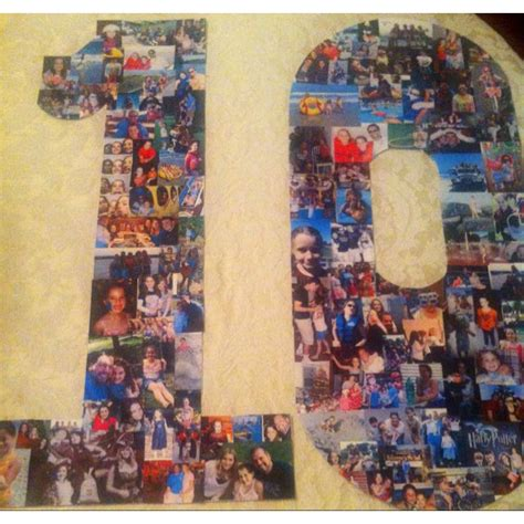 boys 10th birthday ideas idea for 10th birthday collage you could make this