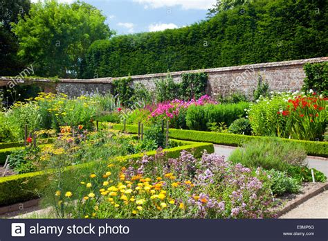 some of the trial beds in the walled kitchen garden at