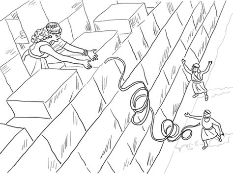 Coloring Page 12 Spies by Rahab Helps The Spies Coloring Page Free Printable