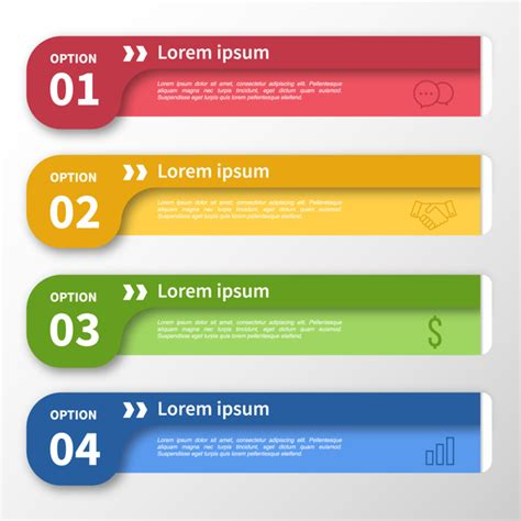 Infographic Template Multicolor Banner Design Vector Free Download Sign Design Template