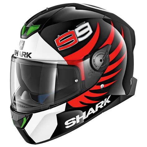 Lorenzo Black casco shark skwal 2 lorenzo black white 183 motocard