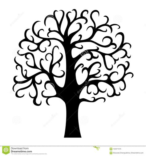 Family Tree Silhouette Life Tree Vector Illustration Isolated Stock Vector Illustration Of Family Tree Clip Vector