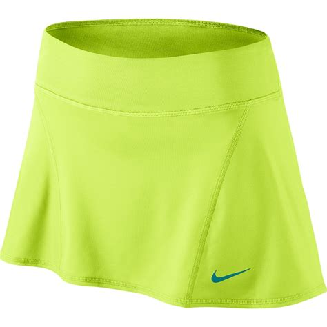 nike flouncy knit s tennis skirt volt emerald