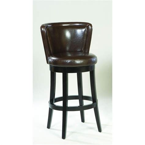 Leather Bar Stools Swivel by Lisbon 26 Quot Leather Swivel Counter Stool In Espresso