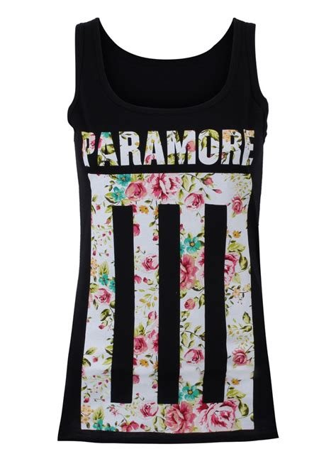 Kaos Band Paramore Merchendise Official 17 paramore fill black vest buy at