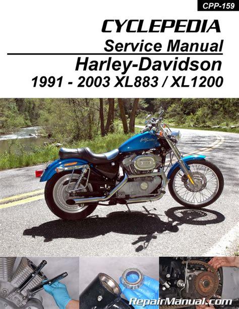 Harley Davidson Sportster Service Manual by Harley Davidson Xl883 Xl1200 Sportster Printed Cyclepedia