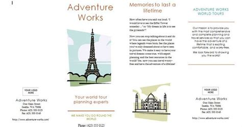 brochure template year 3 free travel broucher template layouts brochures