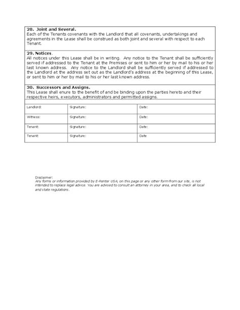 real estate rental and lease form house rental and lease form free