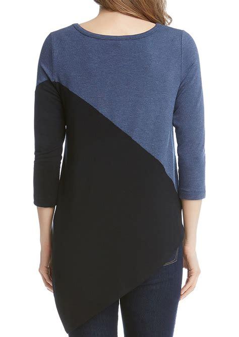 Blouse Asimetri B 1758 color block asymmetric blouse fairyseason